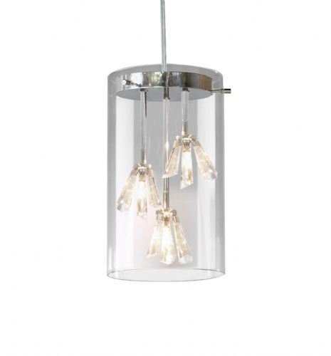 Somerset 3-light Polished Chrome Pendant Ceiling Light (062987) SOM0350